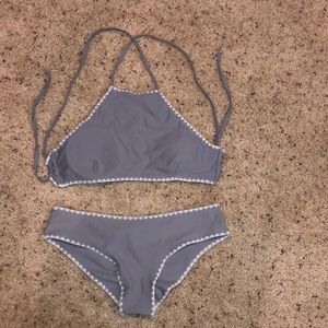 Grey and White Cupshe Bikini